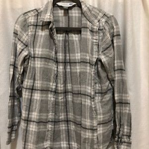 Grey and white flannel